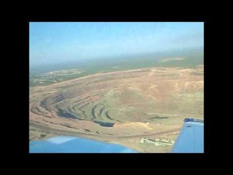 Flight over the Orapa Diamond Mine, Botswana