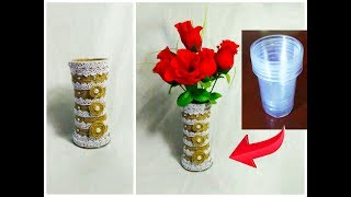 DIY/Flower Pot from Disposable Plastic Glass