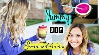 Easy & Yummy Diy Smoothies