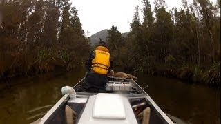 Jetboating hunting fishing Westland New Zealand.
