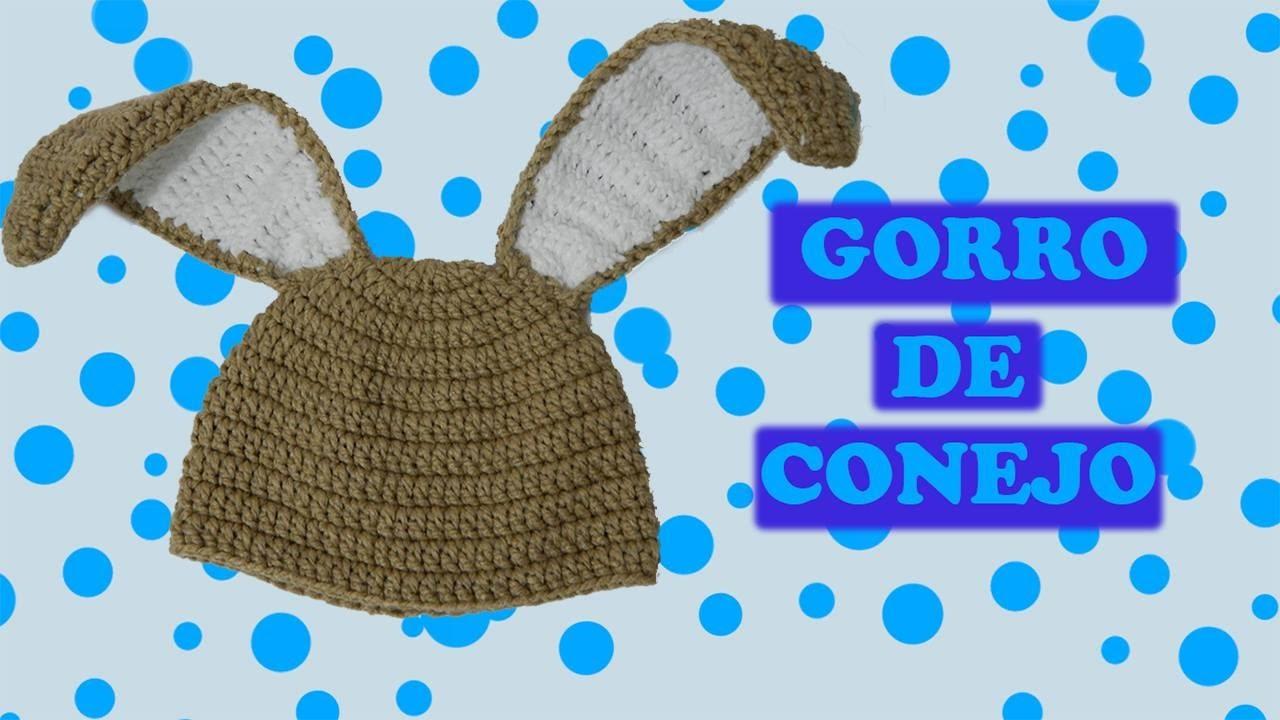 Gorro de conejo tejido a crochet | Paso a paso - YouTube