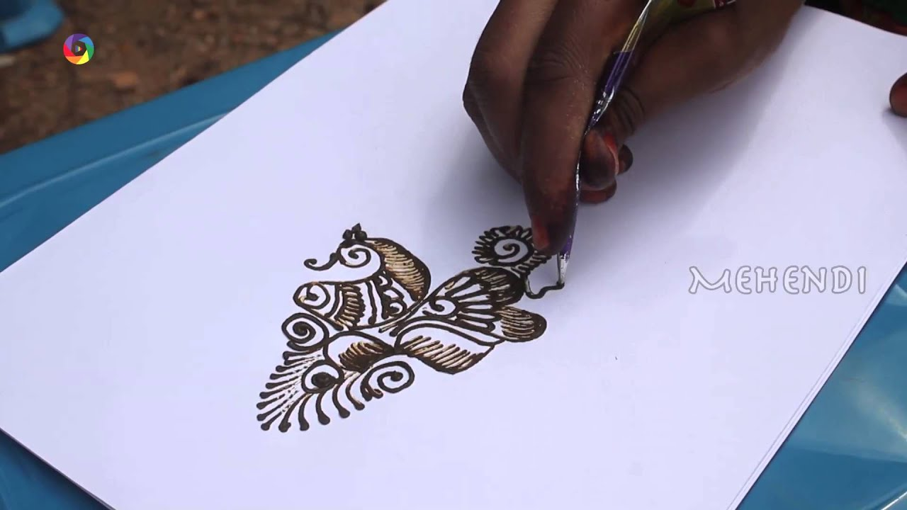 Easy Mehndi Patterns On Paper : How to draw a arabic left hand mehendi design on paper art youtube
