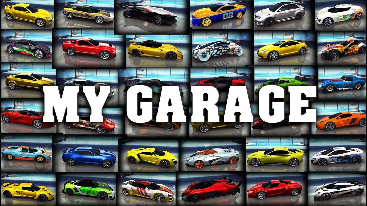 Asphalt 8 - My garage (All my cars on 26 May 2016) - YouTube