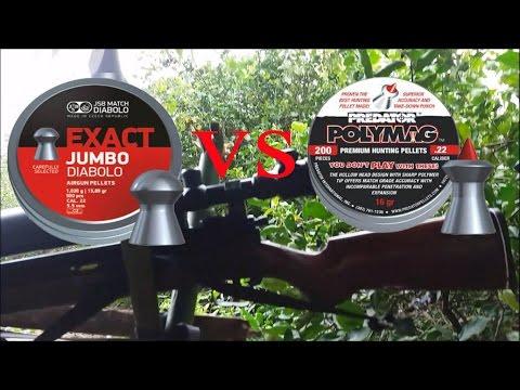 ทดสอบปืนอัดลม Steven เบอร์ 2 ระหว่างลูก JSB EXACT JUMBO  VS PREDATOR POLYMAG