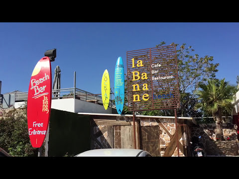 La Banane Beach Cafe in Glifadha, Athens Greece