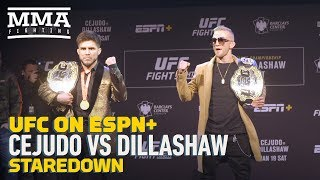 UFC Brooklyn: Henry Cejudo vs. TJ Dillashaw Presser Staredown - MMA Fighting