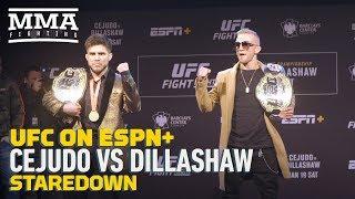 UFC Brooklyn: Henry Cejudo vs. TJ Dillashaw Presser Staredown - MMA Fighting