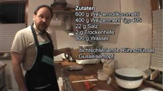 Einfache Brotbackanleitung - Vollkornbrot als No Knead Bread