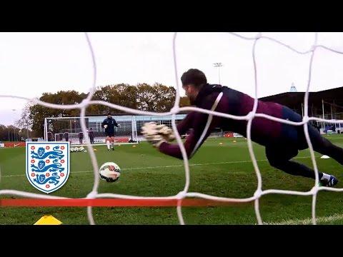 England Goalies Put Through Their Paces | Inside Training