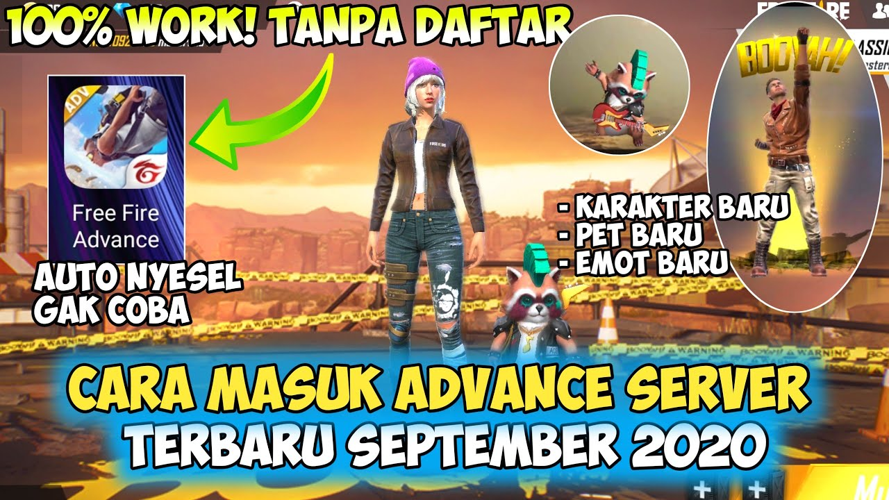 Cara Masuk Advance Server Freefire Terbaru September 2020 Garena Free Fire Youtube