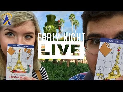First Day of Epcot Food & Wine! - Early Night Live
