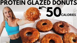 50 Cal Glazed Protein Donuts! Easy, quick & low calorie anabolic recipe!