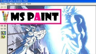 Drawing Goku vs Broly Kamehameha (Dragon Ball) in MS Paint | Desenhando Goku vs Broly | Dibujando