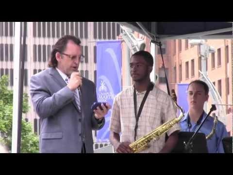 Stephen Grady Jr wins the First Annual JC Heard Jazz Week Award (2012)