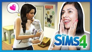 I ADOPTED A KITTEN! - The Sims 4 - My Life - Ep 2