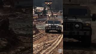 Driving up the upgraded M1045 Hmmwv Humvee by AM General