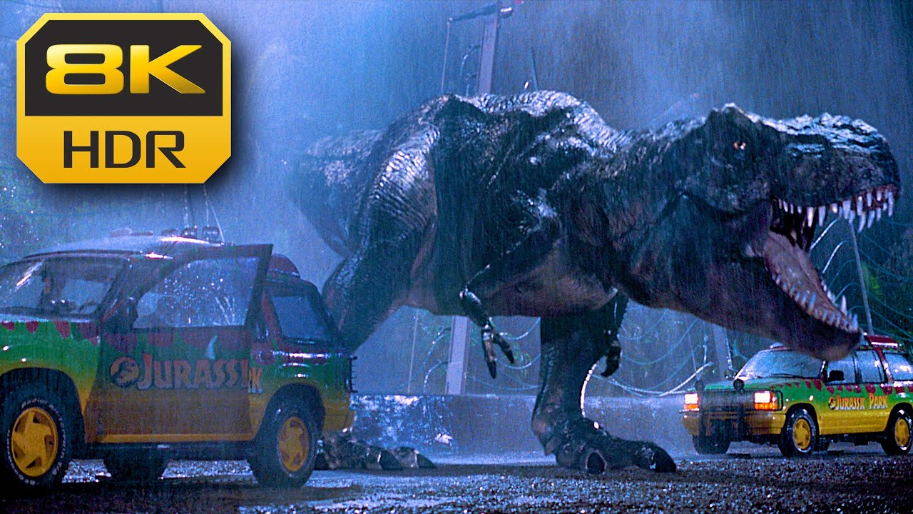 Download T-Rex Entry Scene (Jurassic Park) ● 8K HDR ● DTS X