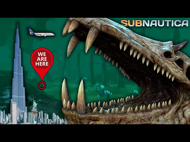 The REAL Size of Creatures in Subnautica will BLOW YOUR MIND!