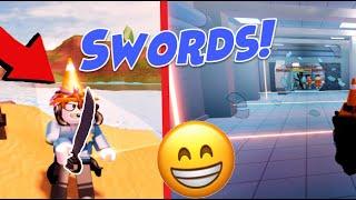 Jailbreak SWORDS w/ ASIMO (Roblox New Bank Blue Floor, Melee Weapon Update, Knock Down Streetlights)