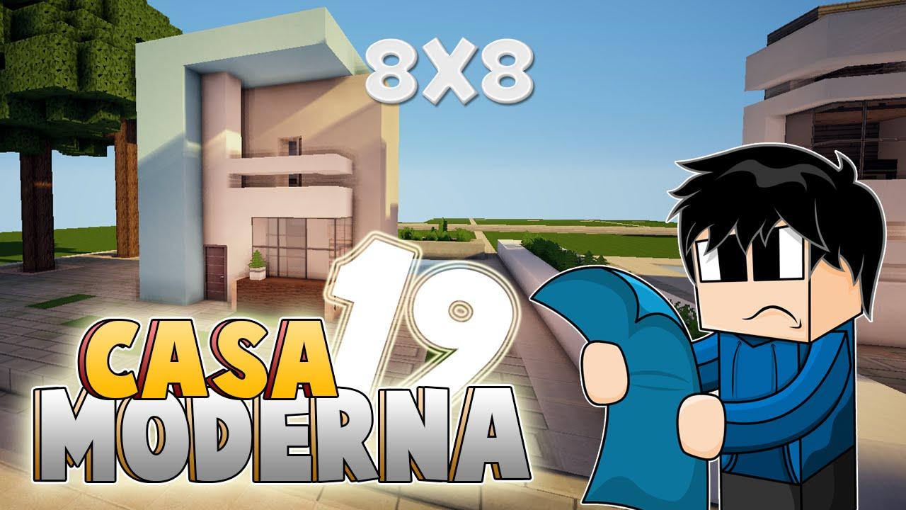 minecraft vamos a construir casa moderna 19 8x8
