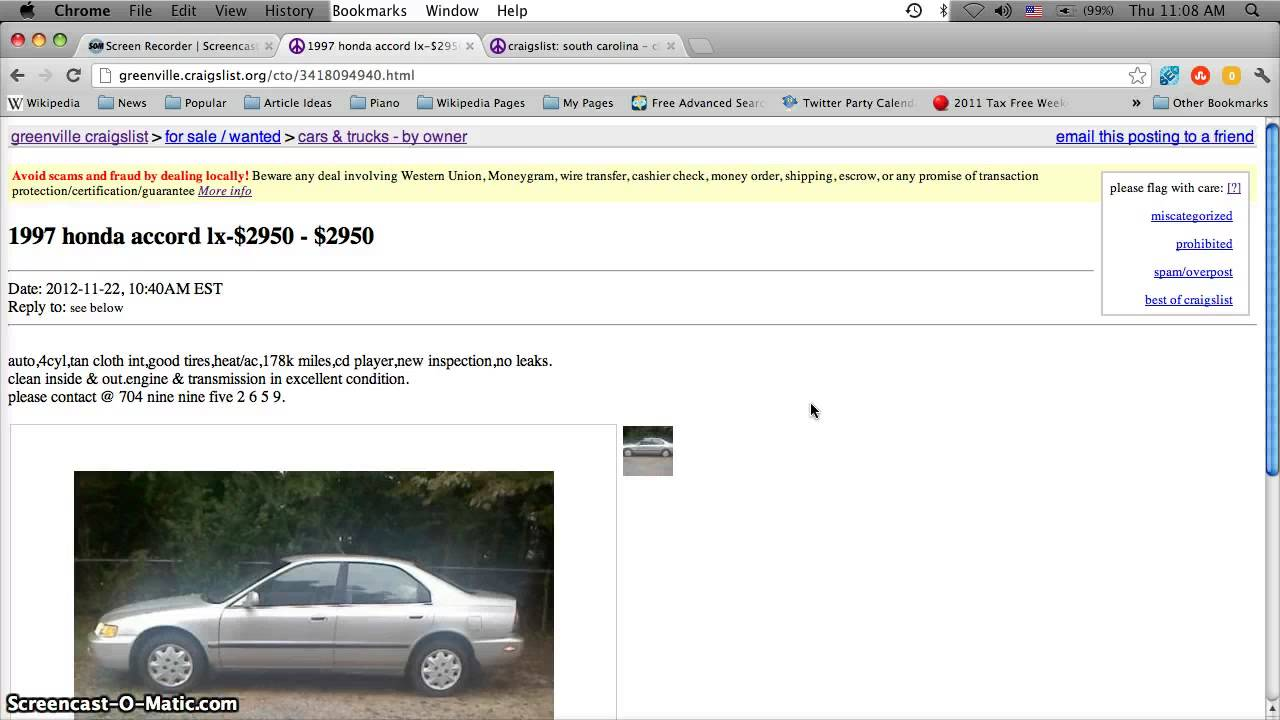 Greenville South Carolina Craigslist Cars