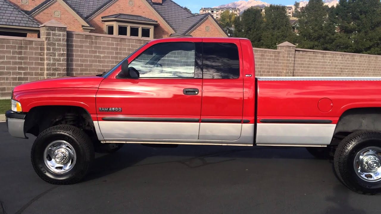 www diesel deals com 1999 dodge ram 2500 slt quad cab 4x4 5 9 cummins turbo diesel youtube. Black Bedroom Furniture Sets. Home Design Ideas