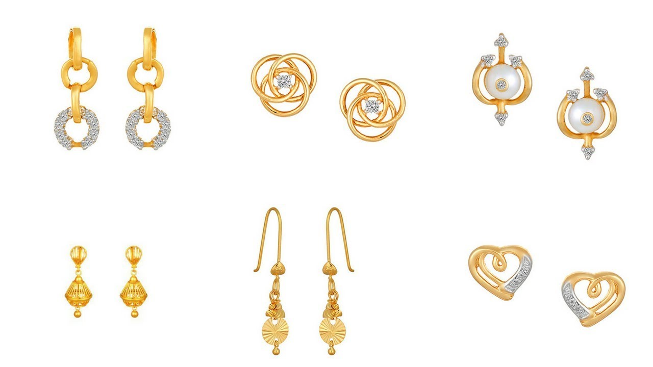 Tanishq Gold Earrings Designs With Price Earring Design In At