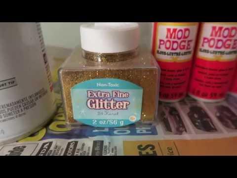 DIY Nursery project: Glitter Letters