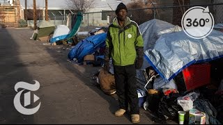 Sleeping on Denver's Bitter Cold Streets   The Daily 360   The New York Times