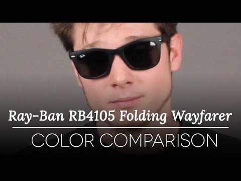 bf7335869a Ray Ban RB4105 Folding Wayfarer Sunglasses Review - YouTube