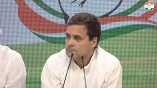 Congress President Rahul Gandhi addresses media after CWC meeting at Congress HQ