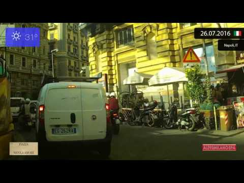 Driving through Napoli (Italy) from Castel Nuovo to Stazione Centrale 26.07.2016 Timelapse x4