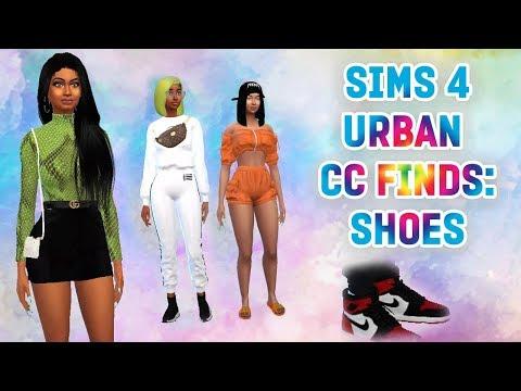 the-sims-4-urban-cc-finds:-shoes-part-1-|-air-jordan-1's,-balenciagas,-gucci...