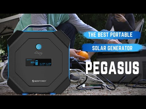 PEGASUS – Your Portable Outdoor Solar Generator