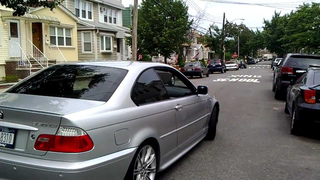 2005 bmw 330ci exhaust start rev take off detail