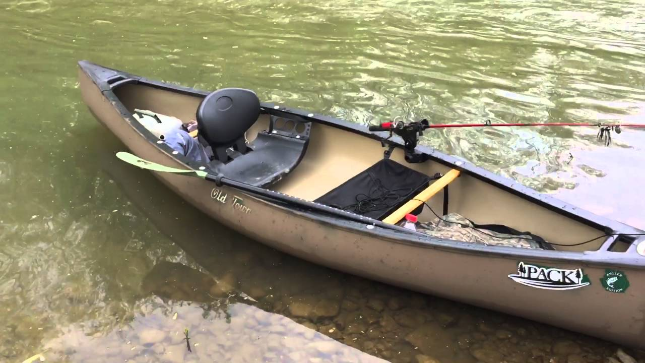Old Town Pack Angler Canoe on the Bourbeuse River