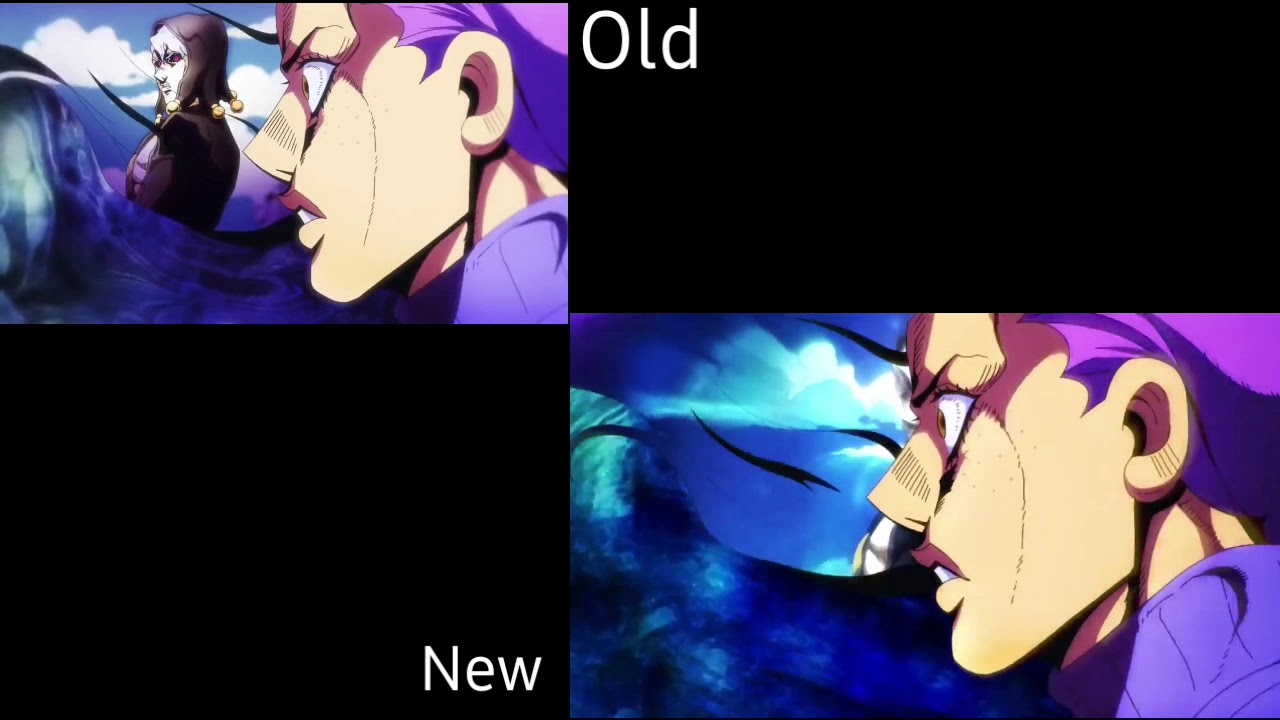 Jojo's Bizarre Adventure Golden Wind Opening 2 Traitor's Requiem Old vs New  Diavolo Comparison
