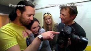 Veronika Nová a Ruda z Ostravy při focení pro www.whitefashion.cz