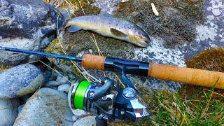 Ловим горную форель на силикон Рыбалка на реке с походом Zemex viper trout Закрытие сезона 2020