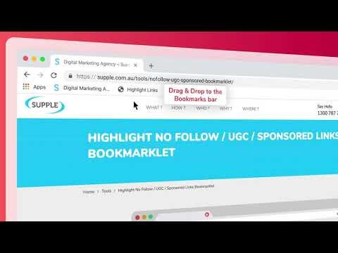 Supple Link Highlight Bookmarklet Promo Video