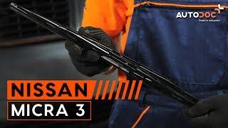 Comment changer Essuie-Glaces NISSAN MICRA III (K12) - video gratuit en ligne