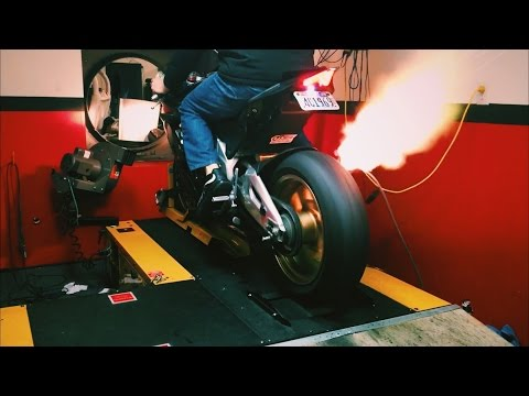 RSV4 On The Dyno / Fire. Sc project Exhaust.
