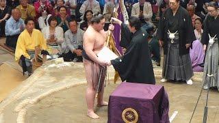 2015年5月24日(日)、平成27年5月場所千秋楽に行ってきました! 照ノ富士...