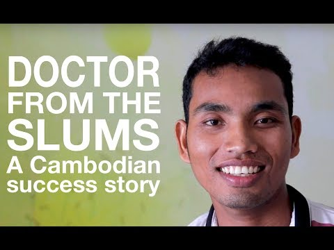 Cambodian slum child to doctor... A success story
