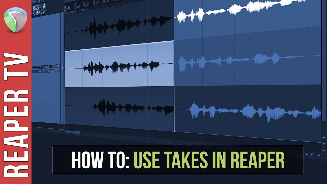 Reaper Tutorial: How to use Takes in Reaper DAW