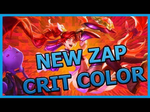 New Jinx W Crit Zap Color All Skins | League Of Legends