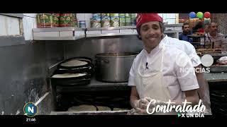Roberto Funes Ugarte trabajando en una pizzería - Telefe No...