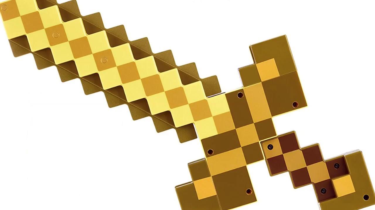 Золотой меч из майнкрафта картинки