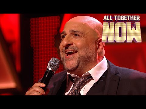 Omid Djalili blows the 100 away with Dean Martin classic | All Together Now Celebrities
