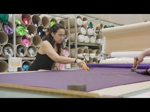 Sylvia P HQ - Fabric Cutting
